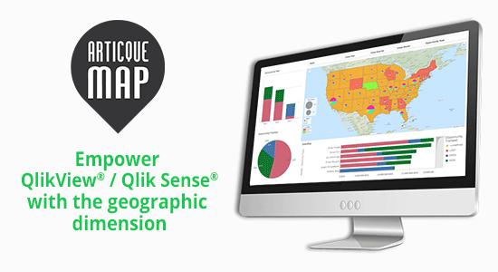 Articque MAP for Qlik Sense QlikView - Download free mapping
