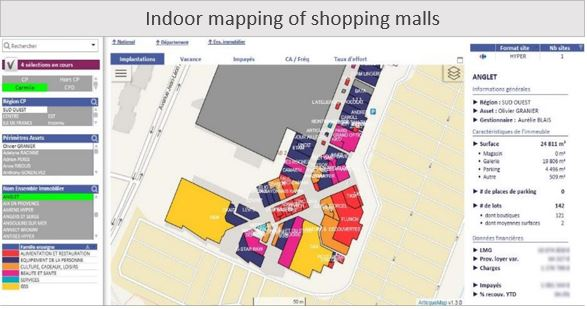 Indoor mapping - Carrefour property