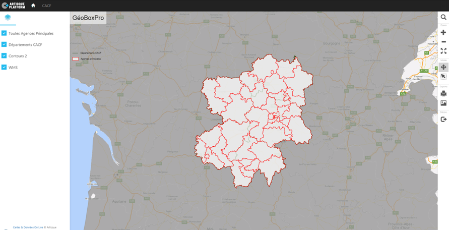 mapping application for banks and insurances